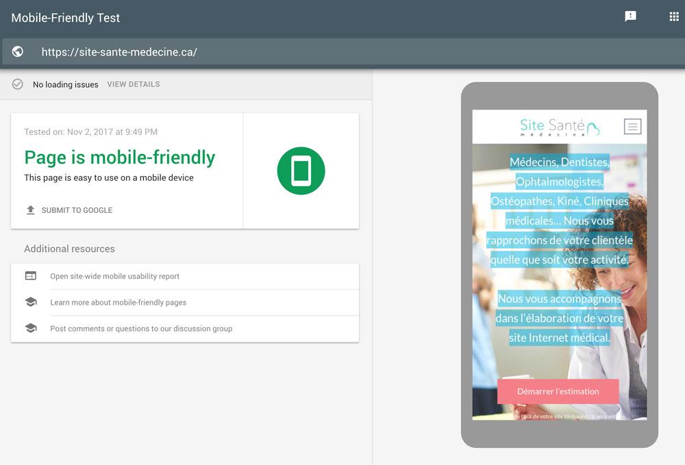 Optimisation mobile de votre site vitrine