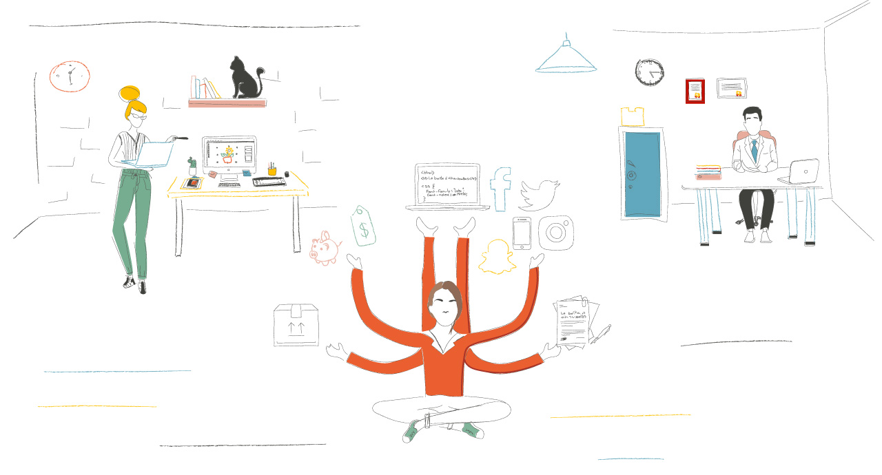 Comment créer son entreprise - illustration histoire Lisa 4