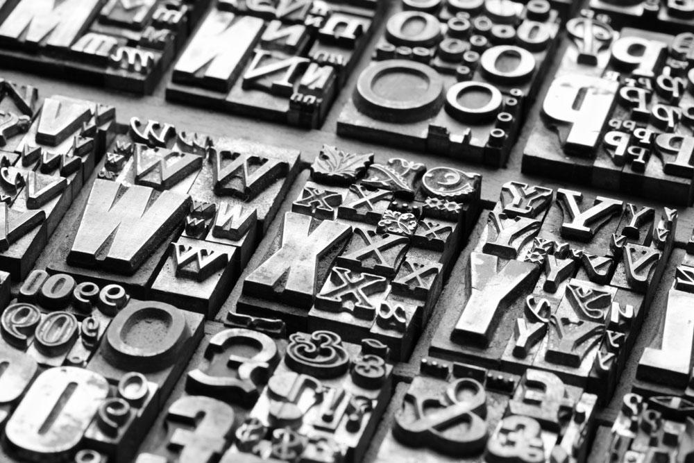 faire une charte graphique - typographie