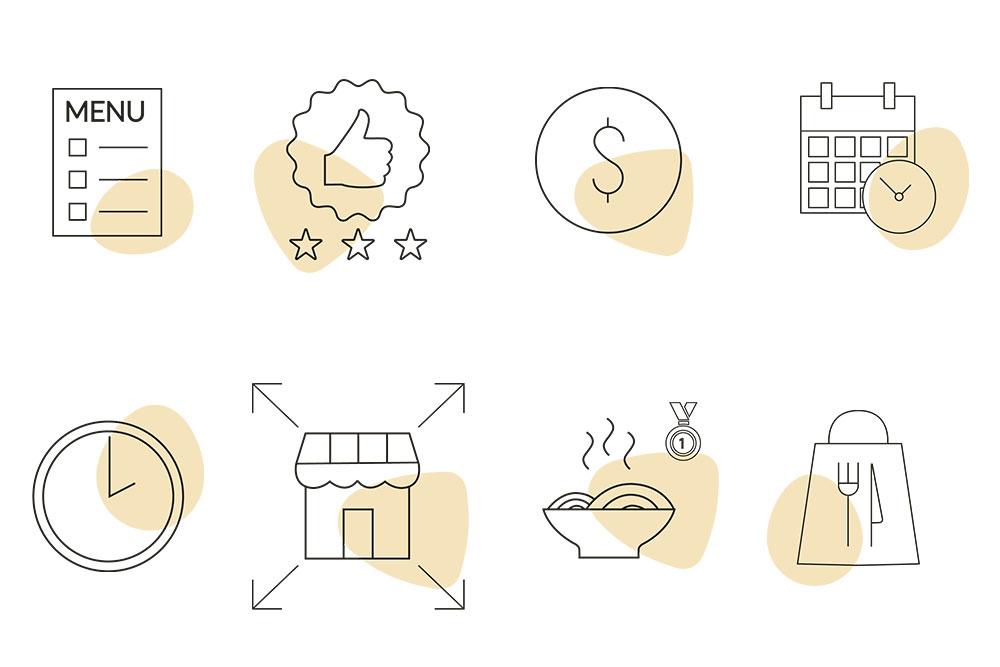 Exemple de charte graphique - icônes