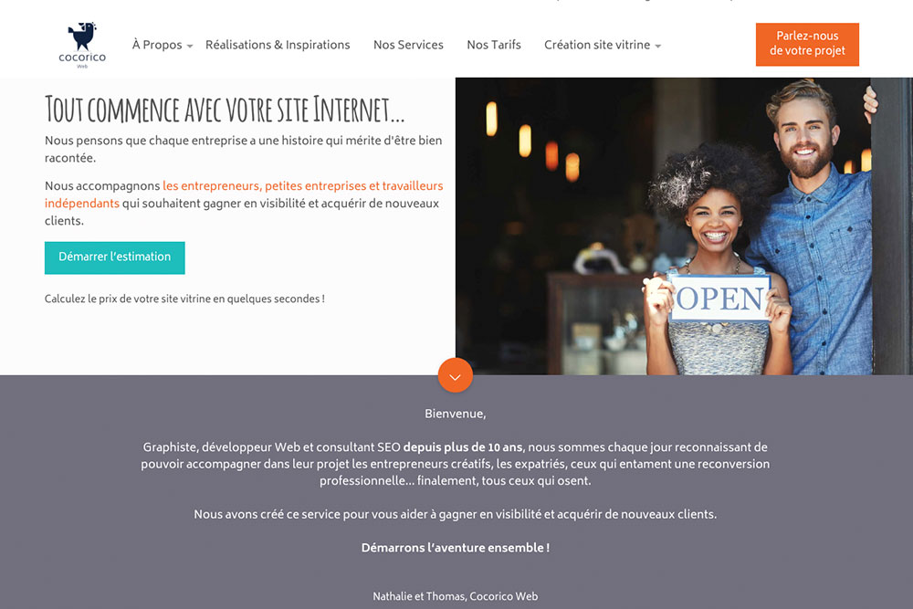 Comment créer un blog - Cocorico Web Homepage